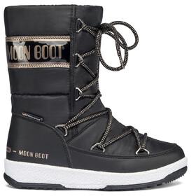 Moon Boot Quilted WP Botas de Invierno Niñas, negro/beige